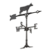 Cow Weathervane-Black 30