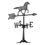 Horse Weathervane - Outdoor Ornamental Weather Vane