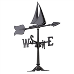 Sailboat Weathervane - Outdoor Ornamental Weather Vane