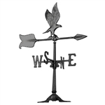 "Eagle Weathervane - 24"" Aluminum Ornamental Wind Instrument"