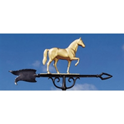 "Horse XL 46"" Weathervane - 30"" Aluminum Ornamental Wind Instrument"