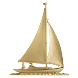 "Sailboat XL 46"" Weathervane - 30"" Aluminum Ornamental Wind Instrument"
