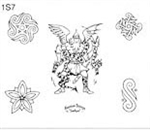 Surkov Tattoo Flash SET 1 / SHEET 7