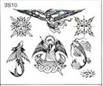 Surkov Tattoo Flash SET 3 / SHEET 10