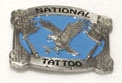 National Tattoo Belt Buckle PEWTER/BLUE
