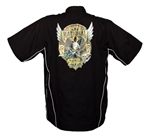 Black National Tattoo Bowling Shirt X-LARGE