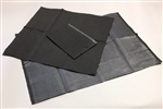 "13"" x 18"" Black Professional Bibs - Poly-Backed (500)"