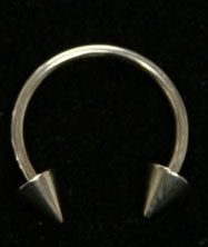 "16 Gauge Circular Barbell 3/8"" / 3mm Spikes"