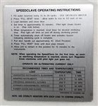 Midmark M7 Instruction Plate