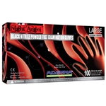 Black Night Angel Nitrile Gloves LARGE