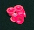 Small Red Plastic Caps (100)