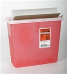5 Quart Horizontal Drop Sharps Box