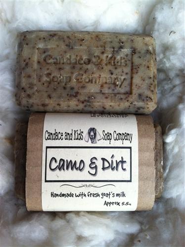 Camo And Dirt Goats Milk Soap