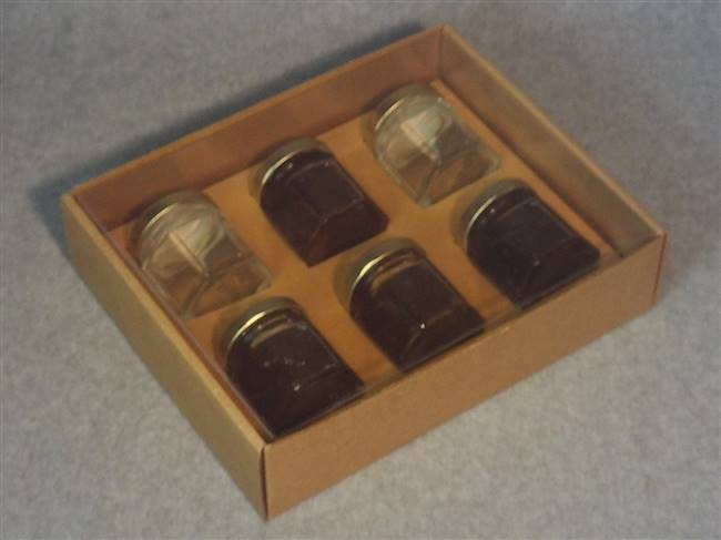 Kraft Honey Jar Box with Clear Acetate Cover
