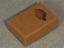 Kraft Soap Box with Falling Leaf Window
