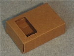 Kraft Soap Box with Rectangle Window
