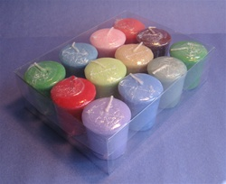 Sparkling Clear Acetate Box for 12 Votive Candles