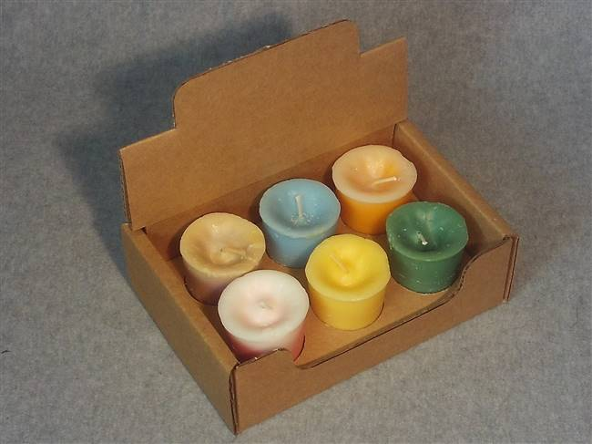 VPD6 - Votive Display Box w/ Partition Holds 6 Votives