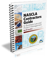 North Carolina Contractors Guide to Business, Law & Project Management 7th edition