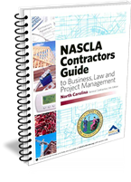 North Carolina Contractors Guide to Business, Law & Project Management 8th edition