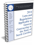 2014 NC Laws and Regulations Applicable to General Contracting