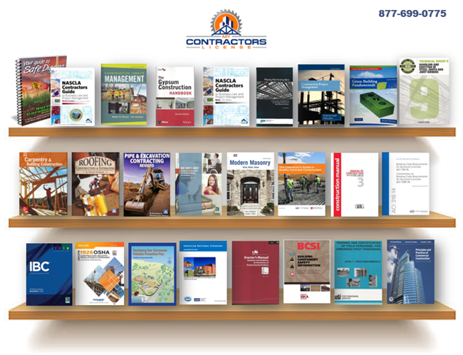 North Carolina General Contractor Reference Book Set for the NASCLA exam