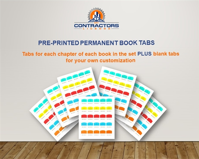 Printed Book Tabs for TN BC-BC Combined Commercial Industrial Contractor Exam Prep Book Set