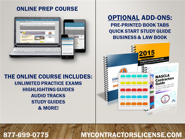 VA Business/Law for General Contractors Prep Course