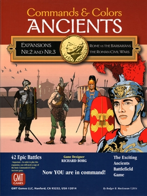 Command & Colors Ancients - Expansion 2 and 3: Rome vs Barbarians; The Roman Civil Wars (2nd printing)