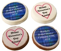 "1.25"" Round Photo or Logo Chocolate Disk, each"