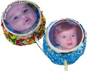 "2"" Round Photo/Logo Brownie Pop, dozen"