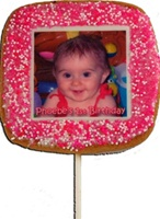 "2"" Square Photo/Logo Cookie Pops, dozen"