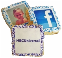 "2.5"" Square Photo/or logo Krispie Treats, dozen"