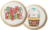 Easter Greeting Sugar Cookies, one dozen