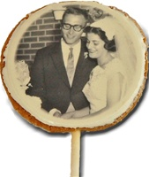 "3.5"" Round Photo/Logo Cookie Pops, dozen"