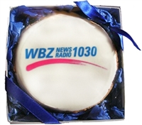 "3.5"" Round Logo Cookies, Individually Gift Boxed, EA"