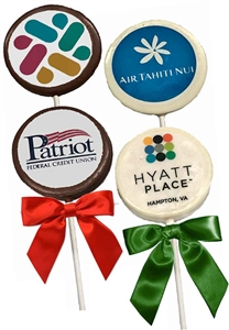 "3"" Round Logo Chocolate Pops (ASI ONLY)"