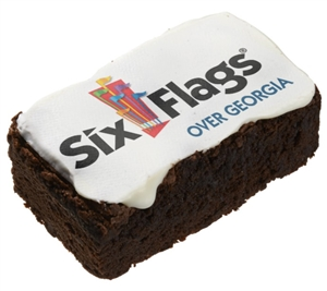 "3.5"" Rectangle Photo/Logo Brownies, dozen"