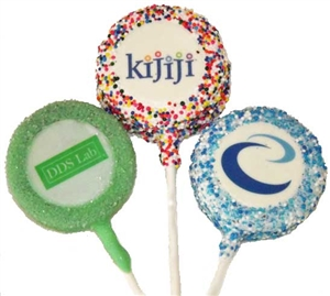 Oreo Photo cookie pops, oreo Logo Cookie Pop
