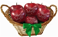 Printed Holiday Fruit Gift Basket of 24