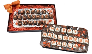 Chocolate Edible Greeting Card, Halloween - Gift boxed