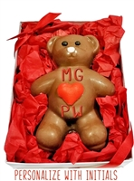 Sweet Heart Chocolate Bear, Personalized Gift Box