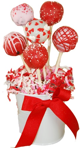 valentines day cake pops cake pops s day bouquet of 6 8226