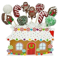 Cake Pops - Gingerbread House Bouquet of 10