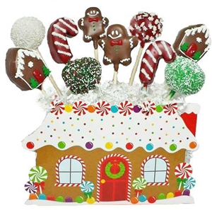 Cake Pops Gingerbread House Bouquet of 10