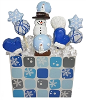 Cake Pops Winter Bouquet of 10