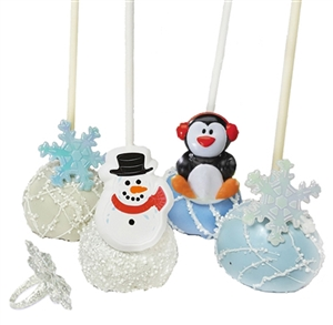 Cake Pops Party Rings, Winter Theme