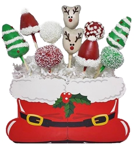 Cake Pops Santa Bouquet of 10
