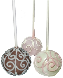 Cake Pops Scroll Designs