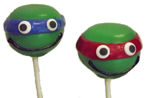 Cake Pops - Teenage Mutant Ninja Turtles